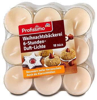Profissimo Weihnachtsbäckerei 6-Stunden-Duft-Lichte