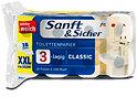 Sanft&Sicher Toilettenpapier XXL-Packung Classic 3-lagig