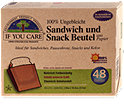 If you care Sandwich und Snack Beutel