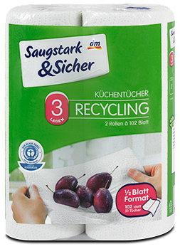 Saugstark&Sicher Küchentücher Recycling