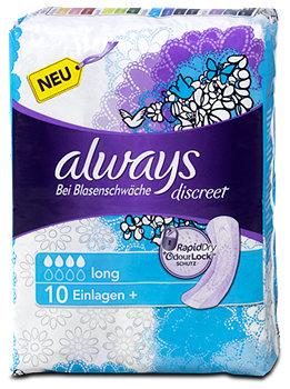 always discreet Einlagen+ für Blasenschwäche Long