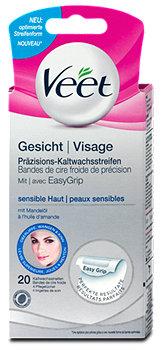 Veet Gesicht Präzisions-Kaltwachsstreifen sensible Haut