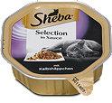 Sheba Selection in Sauce Katzenfutter mit Kalbshäppchen