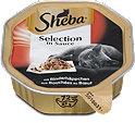 Sheba Selection in Sauce Katzenfutter mit Rinderhäppchen