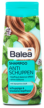 Balea Shampoo Anti-Schuppen mit Nanaminz-Duft
