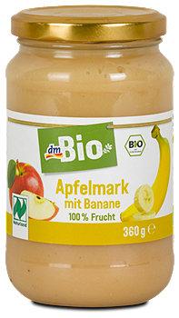dmBio Apfelmark mit Banane