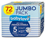 babylove aktiv plus Premium-Windeln 5 junior 12-25 kg Jumbo Pack