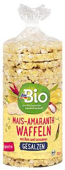 dmBio Mais-Reis-Waffeln gesalzen mit Amaranth & Leinsamen