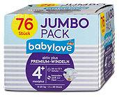babylove aktiv plus Premium-Windeln Gr. 4+ (9-20 kg)