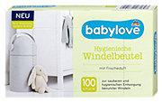 babylove hygienische Windelbeutel