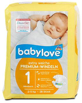 babylove Premium-Windeln Gr. 1 (2-5 kg)
