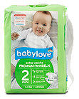 babylove Premium-Windeln Gr. 2 (3-6 kg)