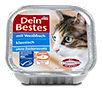 Dein Bestes klassisch Katzenfutter mit Weißfisch Schälchen