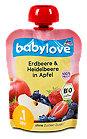 babylove So fruchtig! Apfel & Erdbeere mit Heidelbeere