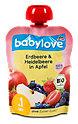 babylove Fruchtpüree Erdbeere, Heidelbeere in Apfel