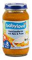 babylove Menü Gemüseallerlei mit Reis & Pute
