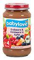babylove Fruchtbrei Erdbeere & Himbeere in Apfel