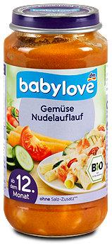 babylove vegetarisches Menü Gemüse Nudelauflauf