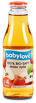 babylove 100 % Bio-Saft Milder Apfel