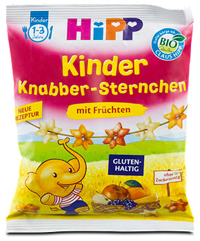 Hipp Kinder Knabber-Sternchen mit Früchten