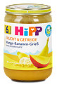 Hipp Fruchtbrei Frucht & Getreide Mango-Bananen-Grieß