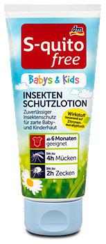 S-quitofree Babys & Kids Insekten Schutzlotion