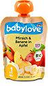 babylove Fruchtpüree Pfirsich & Banane in Apfel