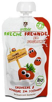 Freche Freunde Fruchtbrei Erdbeere & Himbeere in Joghurt