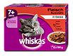 whiskas 7+ Jahre Katzenfutter Fleisch Auswahl in Gelee