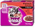 whiskas Junior Katzenfutter Fleisch Auswahl in Sauce