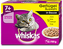whiskas 7+ Jahre Katzenfutter Geflügel Auswahl in Sauce