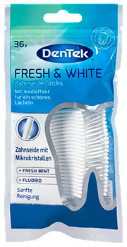 DenTek  Zahnseide-Sticks Fresh & White Minze extra stark
