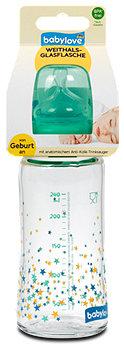 babylove Weithals-Glasflasche 240 ml sort.