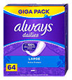 always dailies Slipeinlagen Extra Protect Large Giga Pack