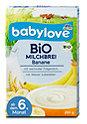 babylove Bio Milchbrei Banane