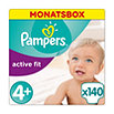 Pampers active fit Windeln Gr. 4+ (9-20 kg) Monatsbox
