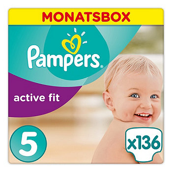 Pampers active fit Windeln Gr. 5 (11-16 kg) Monatsbox