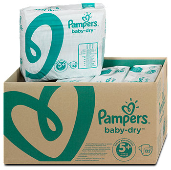 Pampers baby-dry Windeln Gr. 5+ (13-27 kg) Monatsbox