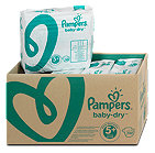 Pampers baby-dry Windeln Gr. 5+ (12-17 kg) Monatsbox