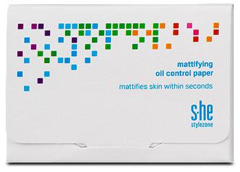 s.he stylezone mattifying oil control paper Spezialpapier