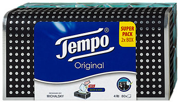 Tempo Original Taschentücher Super Pack 2x Box sort.