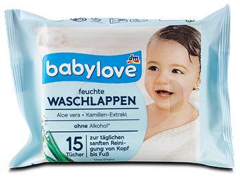 babylove feuchte Waschlappen