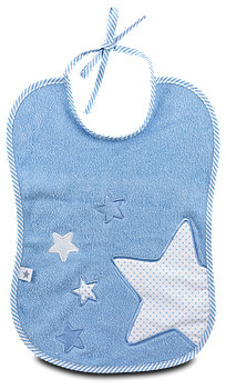 fashy Frottee-Lätzchen Sterne blau