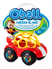 O-Ball Rattle & Roll Spielzeugauto gelb-rot