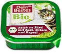 Dein Bestes Bio Katzenfutter Rind, Kalb & Erbsen Schälchen