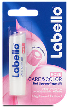Labello 2in1 Lippenpflegestift Care&Colour Rosé