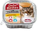 Dein Bestes Katzenfutter Senior reich an Huhn Schälchen