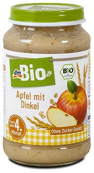 dmBio Fruchtbrei Apfel mit Dinkel
