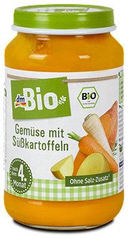 dmBio Babybrei Gemüse mit Süßkartoffeln