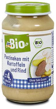 dmBio Babymenü Pastinaken mit Kartoffeln & Rind